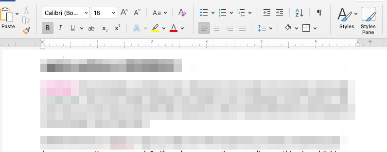Word Interface for Editing Text